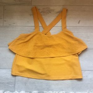 EUC madewell cropped layered top